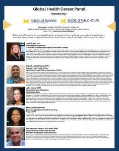 Global Health Career Panel Speaker Bios