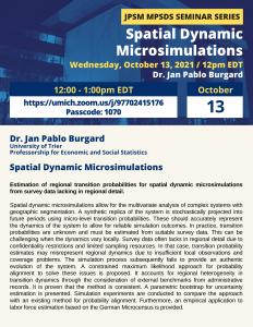 Spatial Dynamic Microsimulations - Jan Pablo Burgard