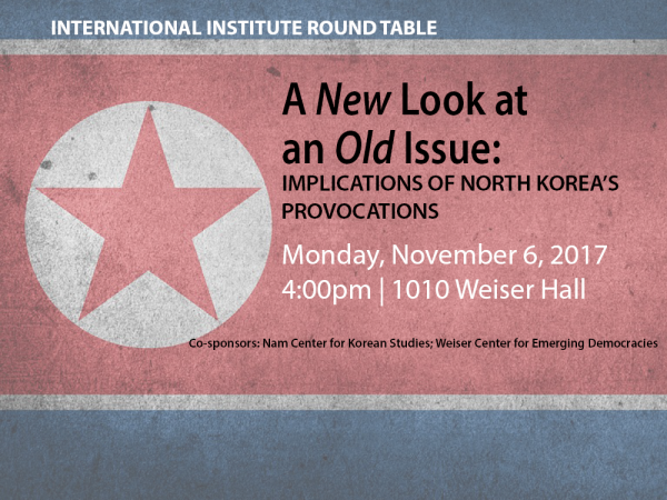 II Round Table. A New Look at an Old Issue: Implications of North Korea's Provocations