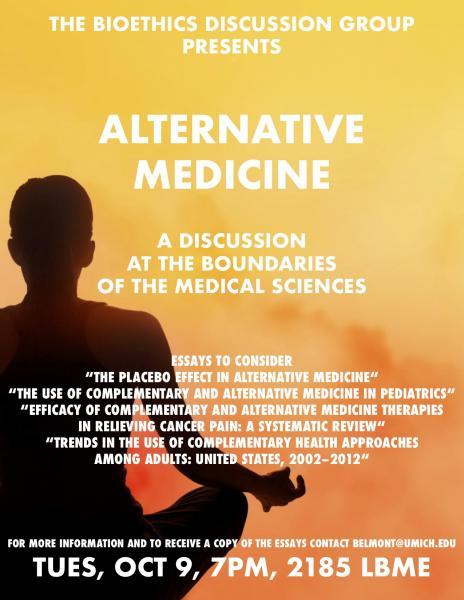 Bioethics Discussion: Alternative Medicine