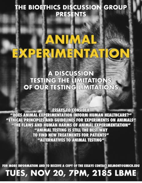 Bioethics Discussion: Animal Experimentation
