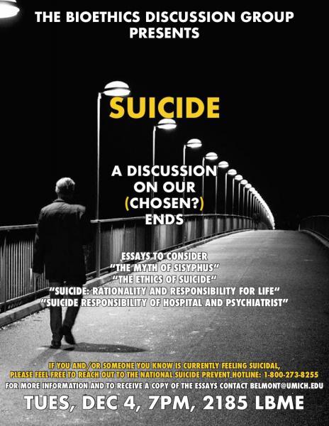 Bioethics Discussion: Suicide
