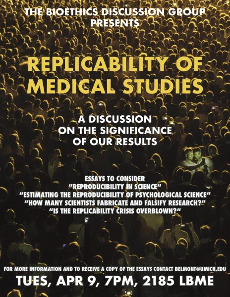 Bioethics Discussion: Replicability of Medical Studies
