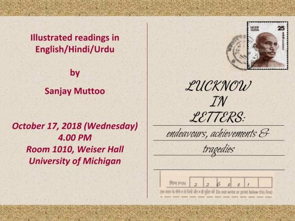 CSAS Lecture Series | Lucknow in Letters: Endeavours