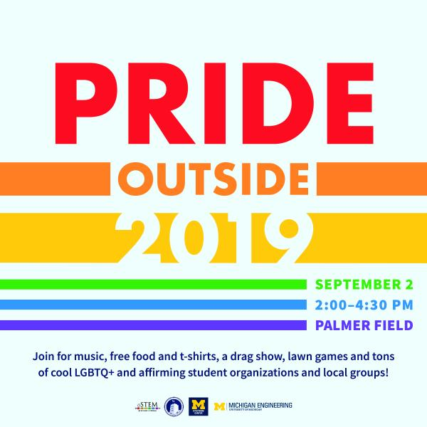 Pride Outside 2019: Michigan's LGBTQ+ Welcome Week Event
