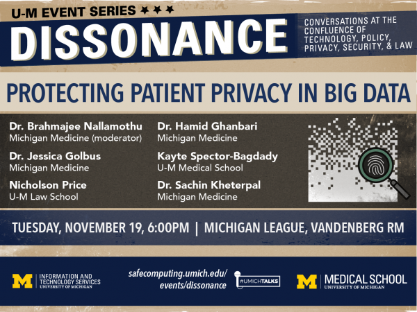 Dissonance Event Series: Protecting Patient Privacy in Big Data: Panel Discussion