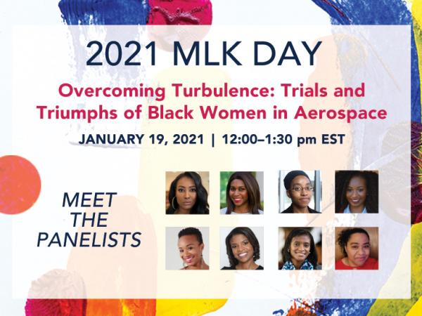 2021 Virtual MLK Day Event | Overcoming Turbulence: Trials and Triumphs of Black Women in Aerospace: Hosted by U-M Aerospace Engineering