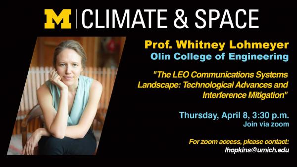 CLASP Seminar Series: Prof. Whitney Lohmeyer of Olin College of Engineering