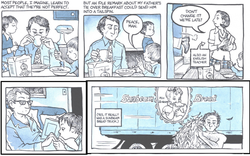 story telling and characterization in fun home a memoir by alison bechdel