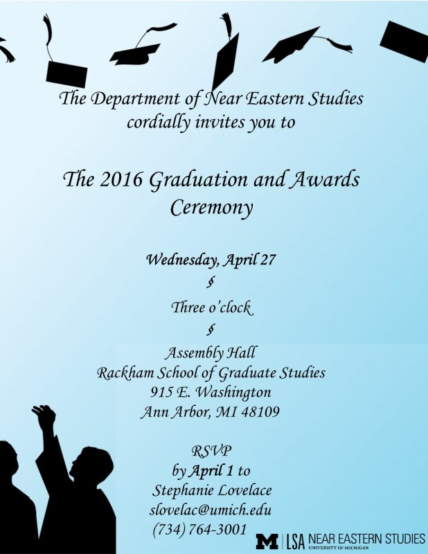 Near eastern studies graduation ceremony happening michigan graduation invitation graduation invitation filmwisefo