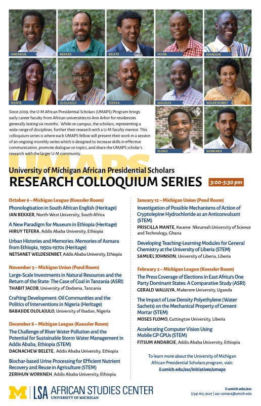 ASC Presentation  UMAPS Research Colloquium Series | Happening