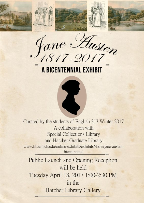 jane austen exhibit poster jane austen exhibit poster