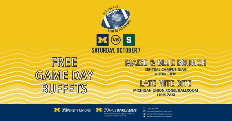 It Takes Lot Of Energy To Prepare For >> Gameday Maize And Blue Brunch Happening Michigan