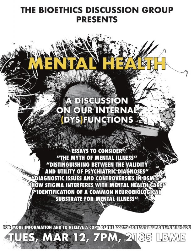 Bioethics Discussion Mental Health Happening Michigan