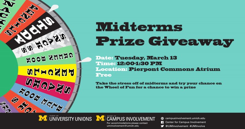 Midterms Prize Giveaway | Happening @ Michigan