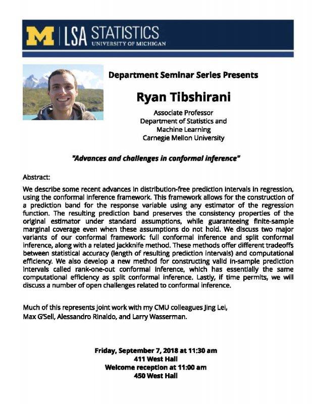 Expired) Statistics Department Seminar Series: Ryan