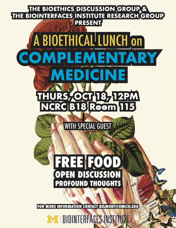 A Bioethical Lunch on Complementary Medicine   Happening