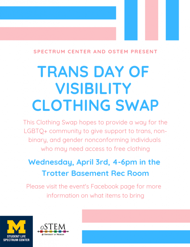 Expired) Trans Day of Visibility Clothing Swap | Happening