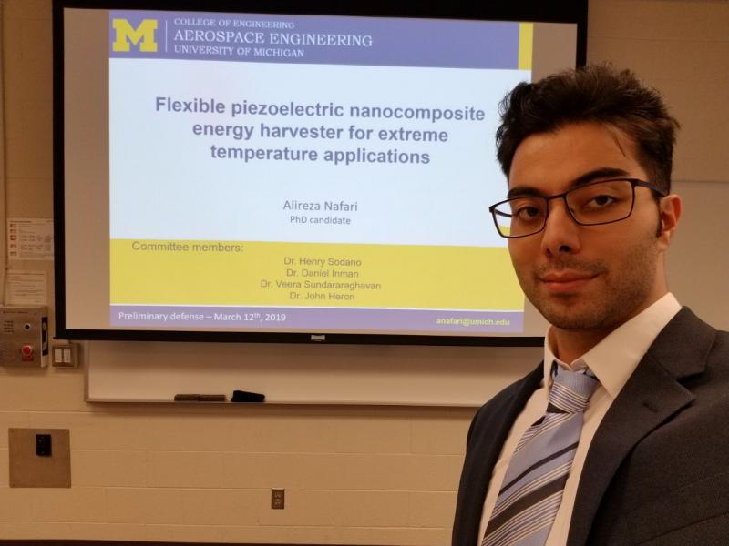 Defense Dissertation: Flexible Piezoelectric Nanocomposite Energy