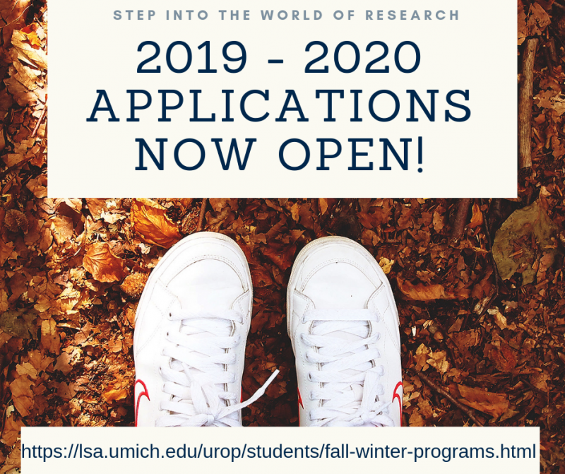 Umich Fall 2019 Academic Calendar Incoming Freshman UROP Fall 2019 Winter 2020 Application