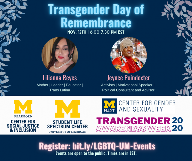 Expired Transgender Day Of Remembrance With Lilianna Reyes Jeynce Poindexter Happening Michigan