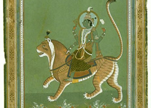 Iconography series: Saturn, mounted on a tiger. India, Rajasthan, Jaipur School.