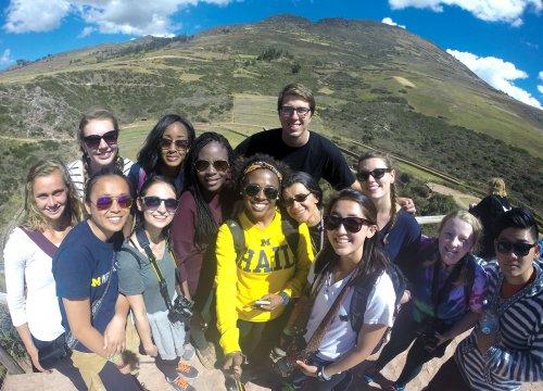 UM students in Peru