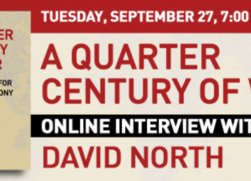 A Quarter Century of War, a new book by David North available at Mehring Books